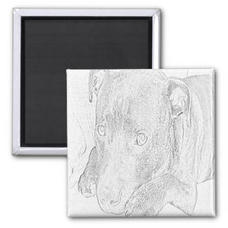 Staffie drawing magnet