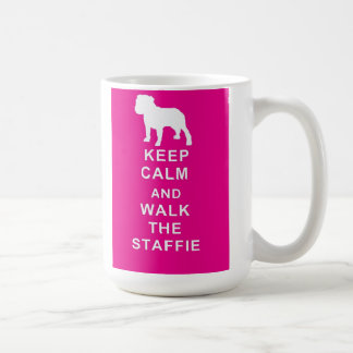 Staffie Keep Calm Walk the Staffie Mug Birthday
