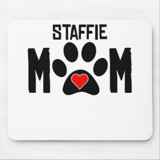 Staffie Mom Mouse Pads