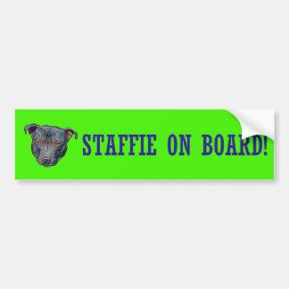 Staffie On Board! Bumper Sticker