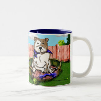STAFFIE SMILES Basket Staffie Mug