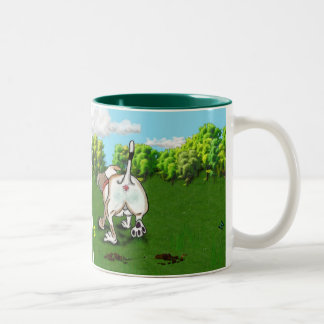 STAFFIE SMILES - Bottoms Up! Two-Tone Mug