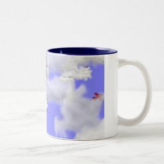STAFFIE SMILES - I'm falling for you Two-Tone Coffee Mug