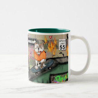 STAFFIE SMILES - Skater Boy Two-Tone Mug