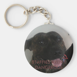 STAFFIES AREN'T DANGEROUS KEY RING