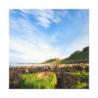Staffin Bay - Isle of Skye, Scotland Square Canvas