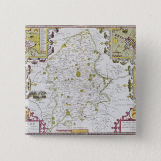 Stafford County and Town, engraved by Jodocus 15 Cm Square Badge