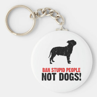 Staffordshire Bull Terrier Basic Round Button Key Ring
