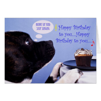 Staffordshire bull terrier birthday card