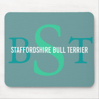 Staffordshire Bull Terrier Breed Monogram Mouse Pad