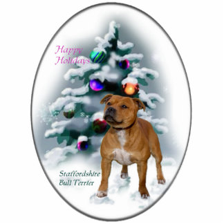 Staffordshire Bull Terrier Christmas Gifts Acrylic Cut Out