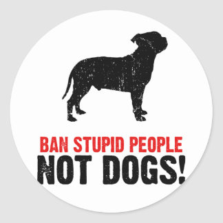 Staffordshire Bull Terrier Classic Round Sticker