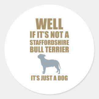 Staffordshire Bull Terrier Classic Round Sticker