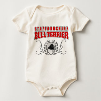 Staffordshire Bull Terrier COA red text Baby Bodysuit