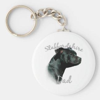 Staffordshire Bull Terrier Dad 2 Keychains