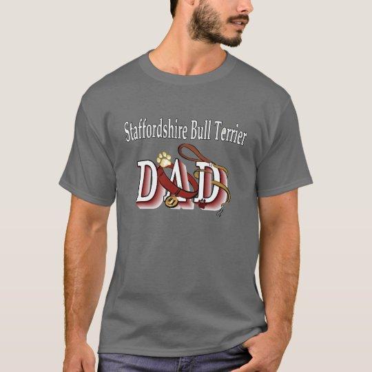 Staffordshire Bull Terrier Dad Apparel T-Shirt