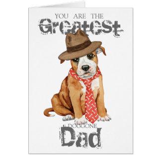 Staffordshire Bull Terrier Dad Card