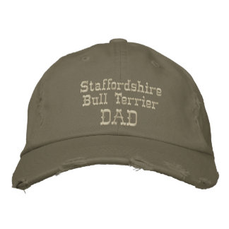 Staffordshire Bull Terrier Dad Gifts Embroidered Hats