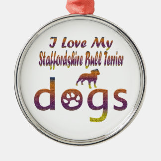 Staffordshire Bull Terrier designs Ornaments