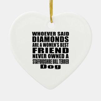STAFFORDSHIRE BULL TERRIER DOG BEST FRIEND DESIGNS CERAMIC HEART DECORATION