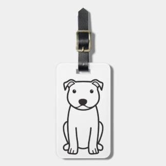 Staffordshire Bull Terrier Dog Cartoon Tag For Luggage