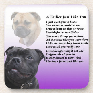 Staffordshire Bull Terrier Father Poem Coaster