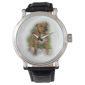 staffordshire bull terrier full.png wristwatch