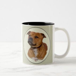 Staffordshire Bull Terrier Gifts Two-Tone Mug