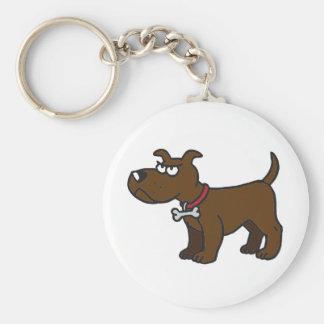 Staffordshire Bull Terrier Key Ring Basic Round Button Key Ring