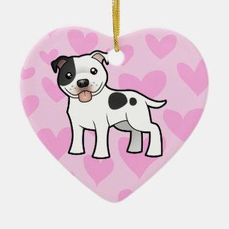 Staffordshire Bull Terrier Love Christmas Ornament