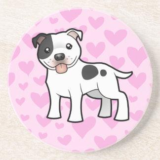 Staffordshire Bull Terrier Love Coaster