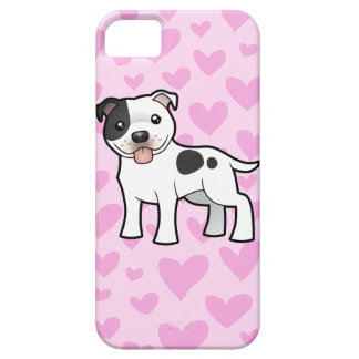 Staffordshire Bull Terrier Love iPhone 5 Cases
