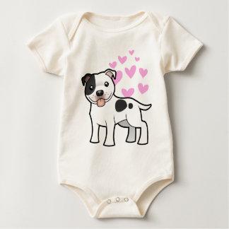 Staffordshire Bull Terrier Love Baby Bodysuit