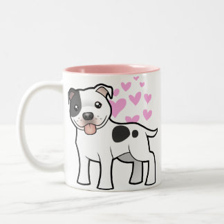 Staffordshire Bull Terrier Love Two-Tone Coffee Mug