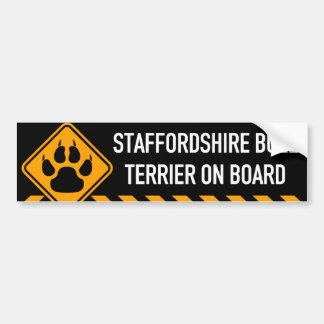 Staffordshire Bull Terrier On Board Bumper Sticker