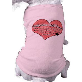 Staffordshire Bull Terrier Paw Prints Dog Humor Shirt