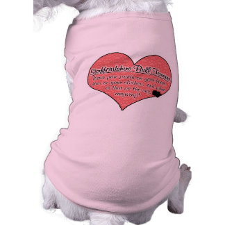 Staffordshire Bull Terrier Paw Prints Dog Humor Sleeveless Dog Shirt