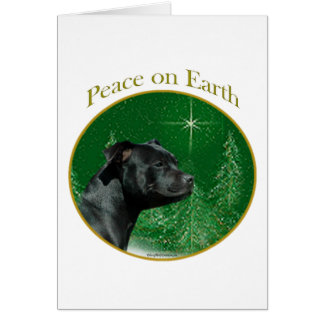 Staffordshire Bull Terrier Peace Greeting Cards