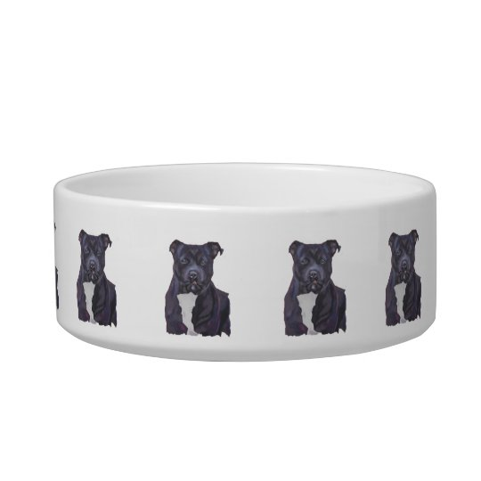 Staffordshire Bull Terrier Personalised Dog Dish