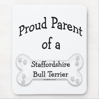 Staffordshire Bull Terrier Proud Parent Mouse Pad