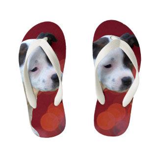 Staffordshire Bull Terrier Puppy, Kid's Flip Flops