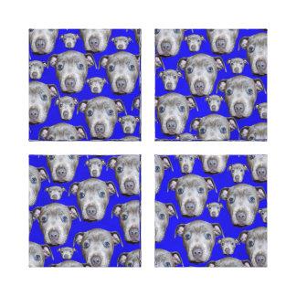 Staffordshire Bull Terrier Puppy Pattern, Canvas Print