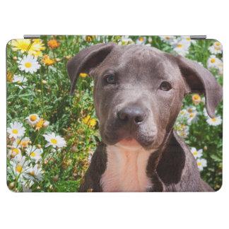 Staffordshire Bull Terrier puppy portrait iPad Air Cover