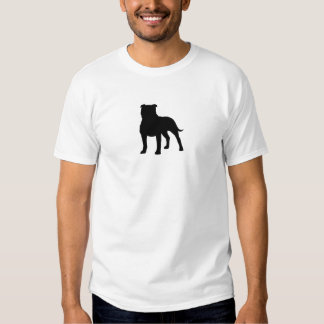 Staffordshire Bull Terrier Silhouette T-shirts