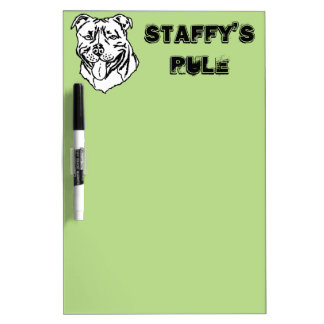 Staffordshire Bull Terrier STAFFY Dry-Erase Whiteboards