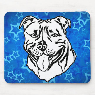 Staffordshire Bull Terrier STAFFY Mouse Pad