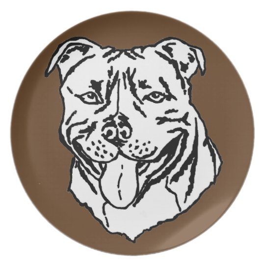Staffordshire Bull Terrier STAFFY Plate