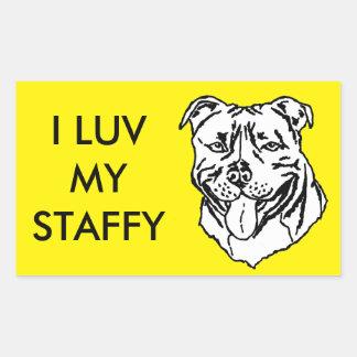 Staffordshire Bull Terrier STAFFY Rectangular Sticker