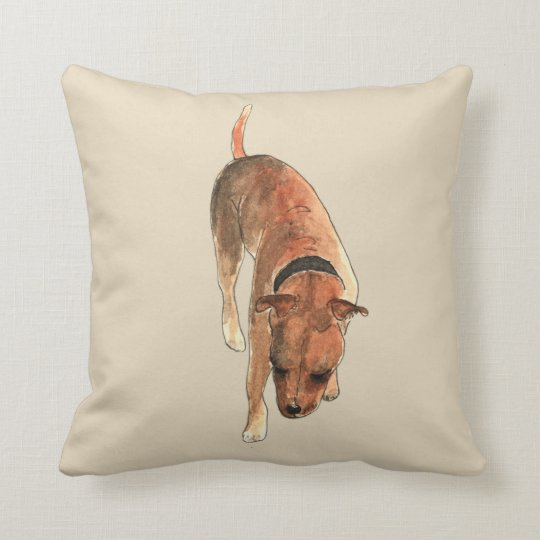 Staffordshire Bull Terrier Watercolour Dog Design Cushion
