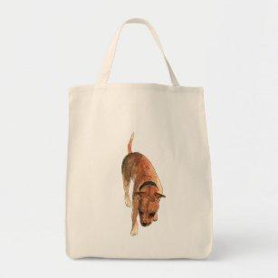 Staffordshire Bull Terrier Watercolour Dog Design Tote Bag